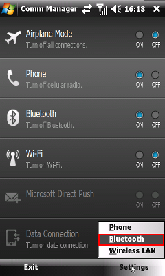 Rozšírené nastavenia Bluetooth