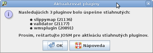 Nainštalované pluginy
