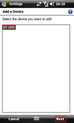 Zvoliť GPS prijímač